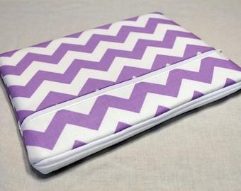 iPad Pro 9.7 Case, iPad air 2 sleeve, iPad Pro Cover, Microsoft Surface Pro 4 Case, Kindle Sleeve, Fabric Tablet Ereader-Lavender Chevron