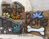 Larger Pet Memorial Garden Stones-  Mosaic Custom Order