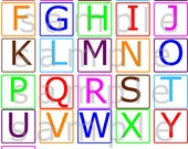 Uppercase Alphabet Letters Wall Decal  - Nursery Wall Decal - ABCs Jungle Wall Decal Alphabets Animal Flash Cards Stickers reusable -HWW