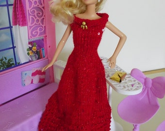 Red Ball Gown For Barbie