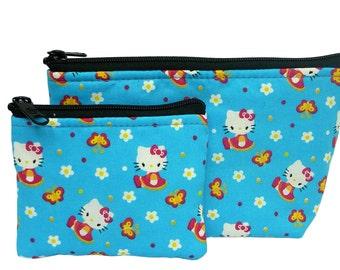 Hello Kitty  Makeup Bag and Boin Bag Set