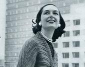 Ladies' 1960's Full-Length Swing Coat  with 3/4 Length Sleeves -- PDF KNITTING PATTERN
