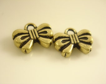48pcs Antiqued Bronze Bowknot Charm Pendant 12x10mm SB-513