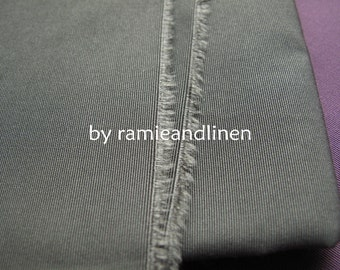 "silk fabric, Ribbed silk cotton blend fabric, grey, one yard by 54"" wide"