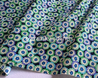 "cotton fabric, floral print cotton fabric, sold by half yard, 18"" by 60"" wide"