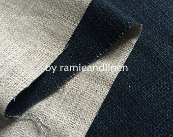 """Japanese import cotton linen fabric, HINODE SENGYO, yarn dyed double face linen cotton blend fabric, half yard by 42"""" wide"""