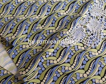 "silk fabric, Pop Art pattern print Silk cotton blend stretch fabric, one yard by 46"" wide"