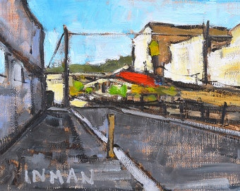 Train Tracks in Little Italy - San Diego Painting