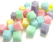 Pastel Colored Sugar Cubes for Tea Parties, Champagne Toasts, Weddings, High Tea, Mad Hatter Tea Party, Favors, Coffee, Shower, Multi Color