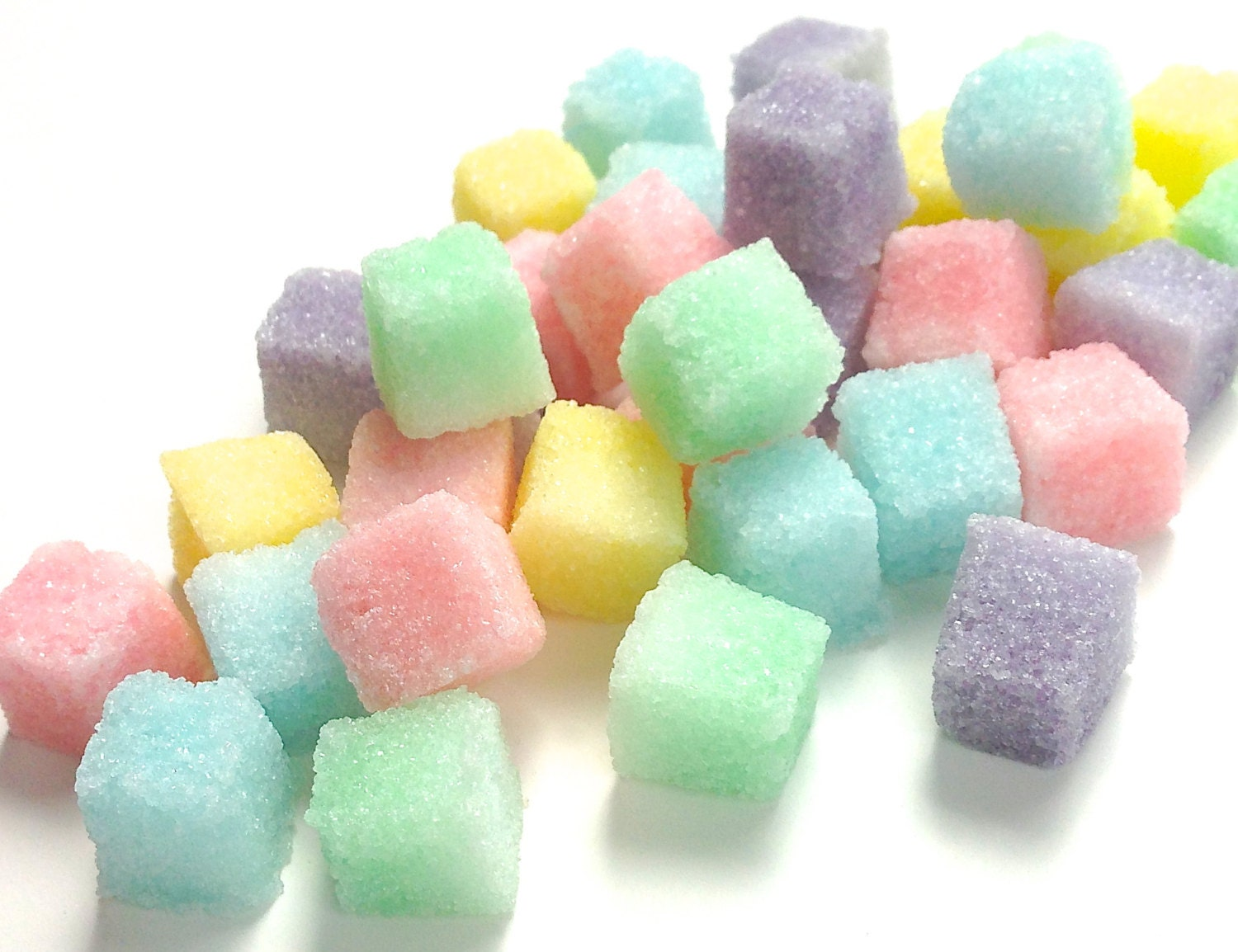 Pastel Colored Sugar Cubes for Tea Parties Champagne Toasts