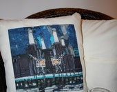 Battersea Power Station 1 - Cushion cover and pillow