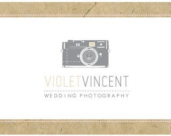 PreDesigned Logo - PreMade Logo - Vector Logo - VIOLET Logo Design - Camera Logo -Vintage Logo