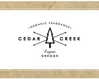 Custom Logo Design - PreDesigned Logo - PreMade Logo - Vector Logo - OOAK Logo - CEDAR CREEK Logo - Tree Logo - Forest Logo - Modern Logo