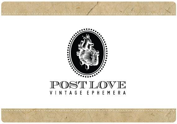 SALE Custom Vector Logo Design -  PreDesigned PreMade Logo POST LOVE