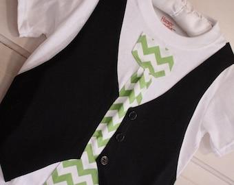Chevron tie, boys Christmas shirt, chevron tie shirt, Sibling Christmas outfit