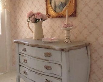 Gustavian chest of drowers - 1:12 dolls house dollhouse miniature
