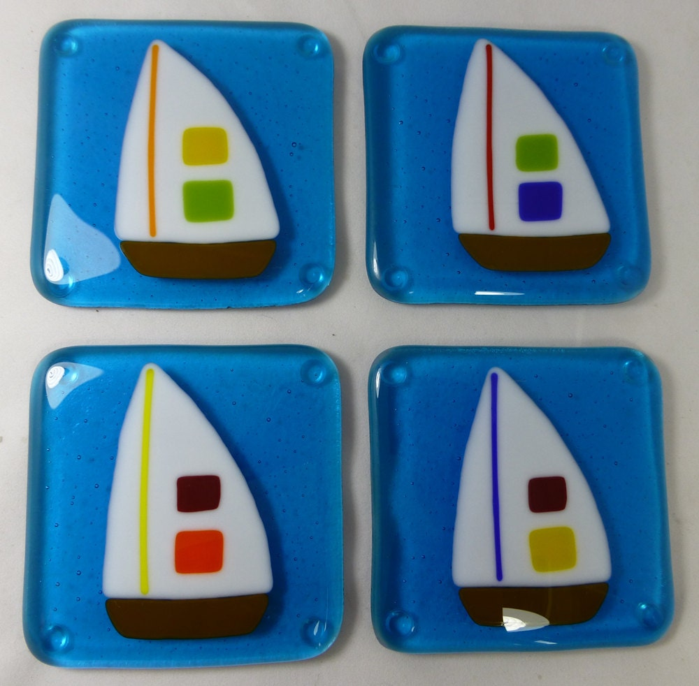 how to make fused glass coasters