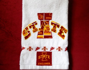 Iowa State University Cyclones Hand Towel Bathroom, Kitchen, Bar, Grill, Grad Gift
