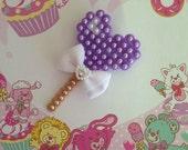 Purple Heart Lollipop brooch