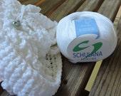 ARAN Weight Yarn - Linen Blend - Purest White  - Schulana Filolino - 50g - 89 yards