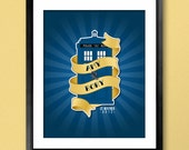 Police Box Wedding Poster - Guestbook Alternative or Anniversary Gift - 16x20