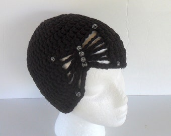 Beanie with Butterfly Design