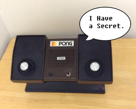 Atari Pong Plain-View Safe Keepsake Box Bank