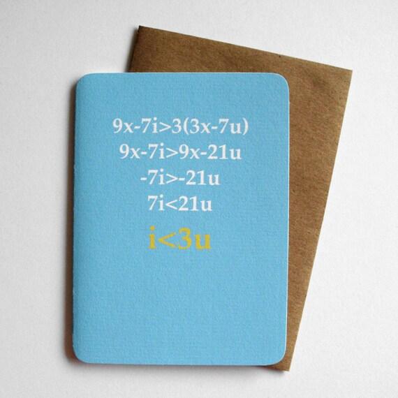nerd love card love equation etsy