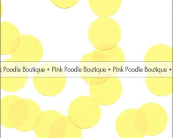 "YELLOW TISSUE Paper CONFETTI -- choose from: 1/2"" 3/4"" and 1"" Circles, Hearts, Butterfly, Daisy Flowers -- pif.pay it forward.aok"