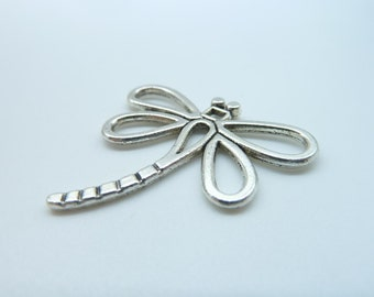 10pcs 30x31mm Antique Silver  Lovely Filigree Dragonfly Charms Pendant B247