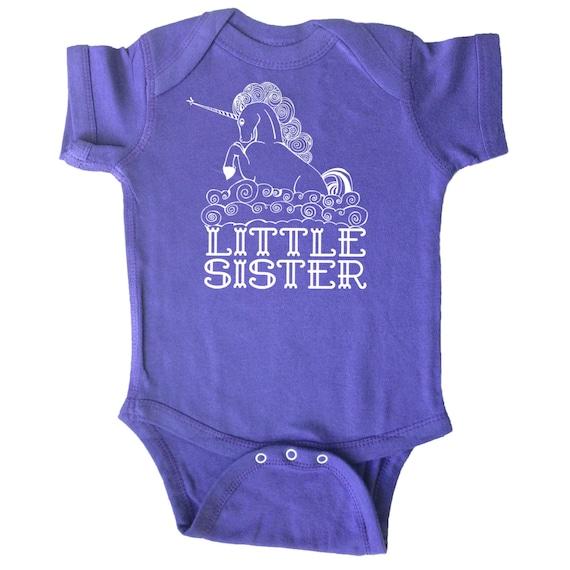 Items similar to Little Sister Unicorn Baby Bodysuit