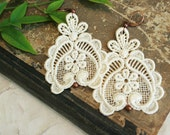 lace earrings - DARLA - ecru