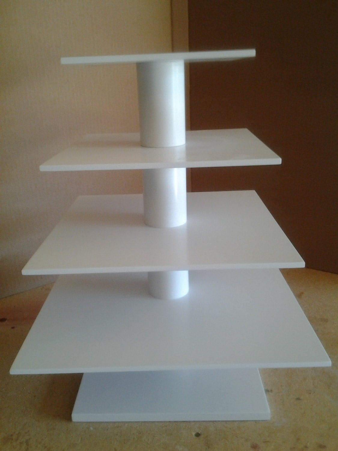 how to make a 4 tier square wedding cake 4 tier square custom made cupcake stand by mikesamazingstands 15788