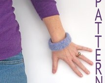 Crochet PATTERN - Wool Felted Bangle - Pattern Only - With Permission To Sell Finished Item