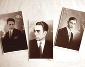 Vintage Young Men Photographs Postcards Collection