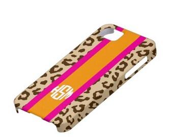 Personalized iPhone 6 Monogram Case - Leopard Print iPhone case - Personalized iPhone 5 Case