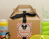 Set of 6 - Mouse Ears Goodie Boxes  - GIRL Mouse or BOY Mouse Mouse Ears Party Label // Mouse Ears Party Favor Box // Kids Party Favor Box