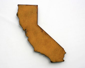 "California map metal wall art - 24"" tall CA - choose your color - USA map state wall art California art los angeles hollywood san francisco"