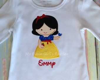 Monogrammed Inspired by Snow White T-Shirt