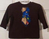 Boys Pirate tie T-shirt -  ready to ship - sizes 12M 24M 3T 5T