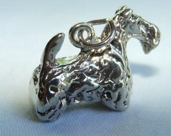 SCOTTIE Dog 3 D Charm in STERLING Silver