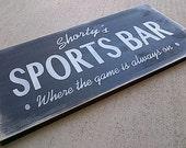 Custom Sports Bar wooden sign for man cave, shop, sports bar, den, sports room by Dressingroom5