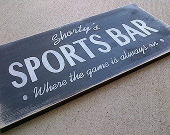 Custom Sports Bar wooden sign for man cave, shop, sports bar, den, sports room by Dressingroom5
