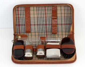 SALE! 25%OFF original price.. Plaid Traveler Grooming Set