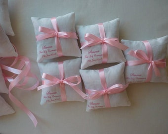 Personalised lavender pillows (set of 10)