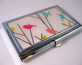 Birds on a Branch.  Business card case
