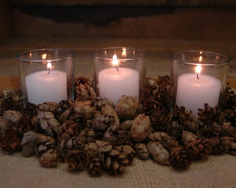 Pine Cones and Candles add on for Decorated Mason Jar Sets