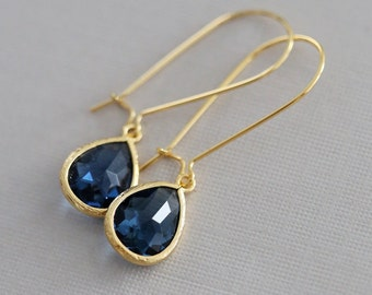 Sapphire Earrings,Jewelry,Pendant, Gold Earrings,Diamond Earrings,Gold Earrings, Gold Faceted Earring,Wedding,Bridal, Bridesmaid Gift
