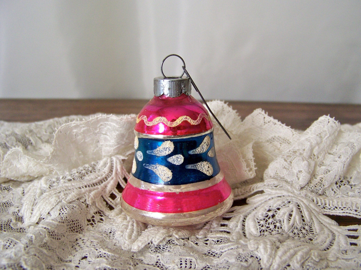 Vintage Christmas Ornament Glass Bell Shaped by CynthiasAttic
