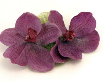 Purple Orchid Hair Clip